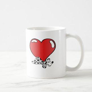 Valentin daghjärta kaffemugg