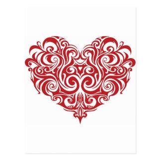 Valentin daghjärta vykort