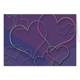 Valentin daghjärtor hälsningskort