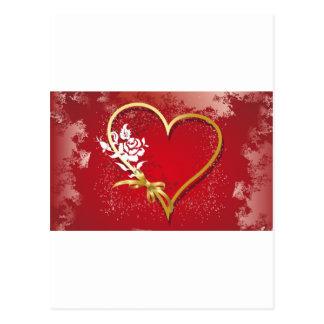 valentin daghjärtor vykort