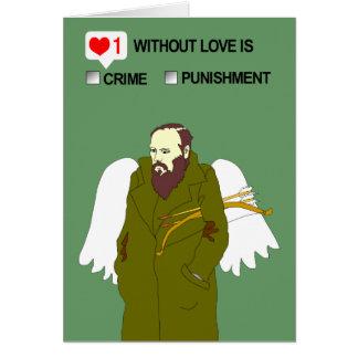 Valentin dagkort från Dostoevsky Hälsningskort