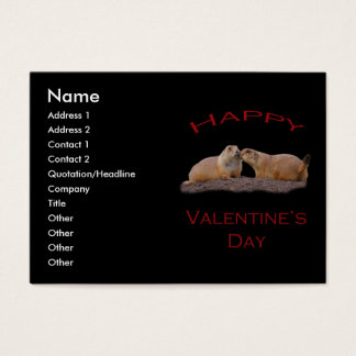 Valentin dagkyss visitkort