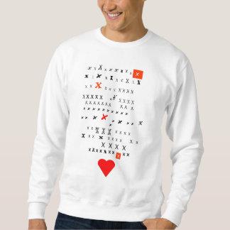 Valentin dagkyssar lång ärmad tröja