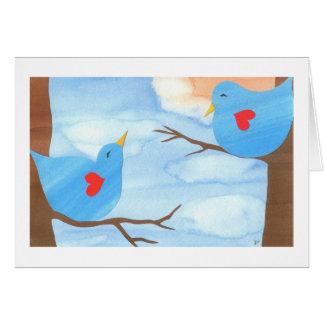 Valentin dagLovebirds av Liz Wang Hälsningskort