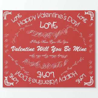 Valentin dagpapper presentpapper