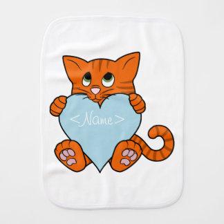 Valentin den orange katten för dag med ljust - bebistrasa
