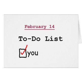 Valentin: Det roliga bråk listar Hälsningskort
