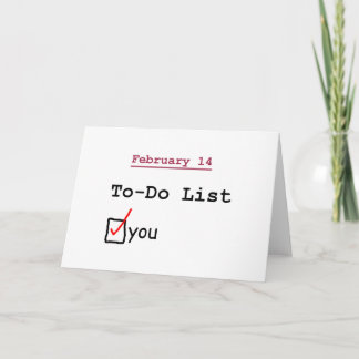 Valentine: Funny To-do List