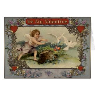 Valentin - duvor stjäler hjärtan av Amur.en Hälsningskort