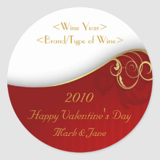 Valentin etikett för vin för dagpersonlig