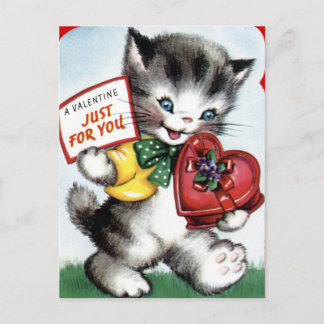 Valentin för barn helg vykort