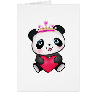 Valentin för gåva för Pandaälskarefläkt gåva för h Hälsningskort
