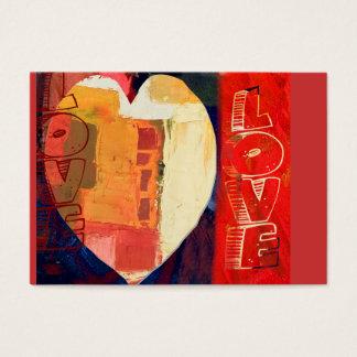 Valentin för hjärtakärlekabstrakt hjärta ACEO för Visitkort