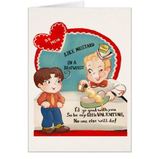 Valentin för vintageBratwurstkorv kort för dag