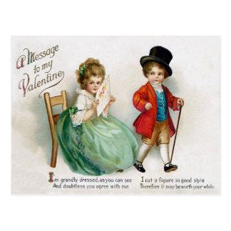 Valentin för vintageEllen Clapsaddle småbarn Vykort