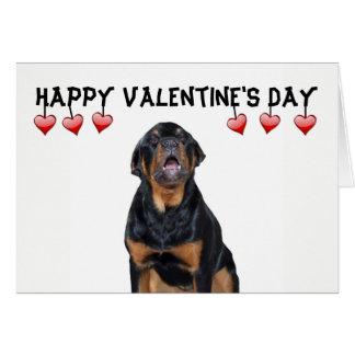 Valentin Grumpy Rottweiler för dag kort Hälsningskort