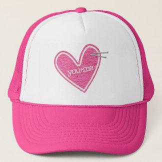 Valentin hatt för daghjärta truckerkeps