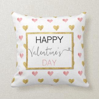 Valentin hjärtor för glitter för rosor för dag kudde