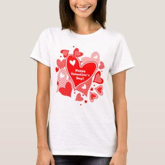 Valentin hjärtor t-shirt