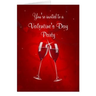 Valentin inbjudan för dagparty - hälsningkort hälsningskort