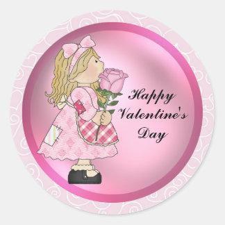 Valentin klistermärke för dagflicka