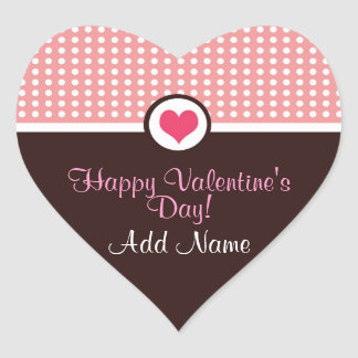 Valentin klistermärke för hjärta för dagpersonlig