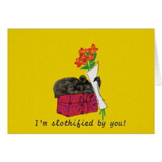 Valentin kort med en Slothified Sloth