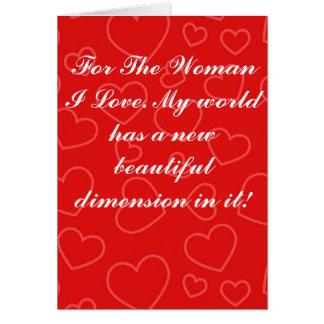 Valentin kortet för daghälsningen - dimensionerar hälsningskort