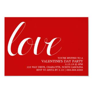 Valentin modet för partyinbjudan | skrivar kärlek 8,9 x 12,7 cm inbjudningskort