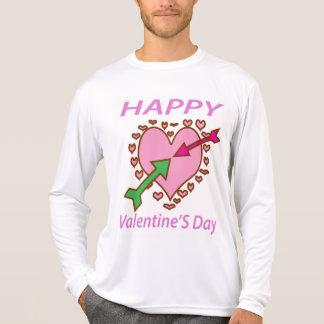 Valentin pilar för hjärta n för daggåva roliga t shirt