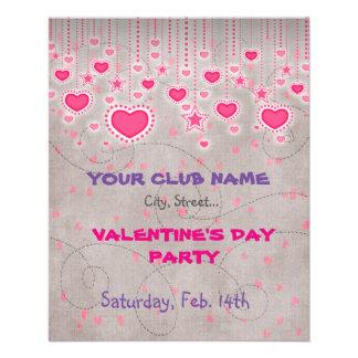 Valentin reklamblad för dagparty