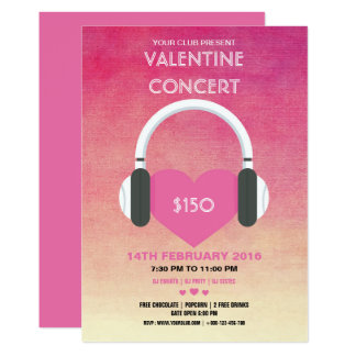 Valentin reklamblad för inbjudan för dagparty
