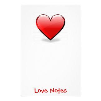 Valentin röd hjärta för dag brevpapper