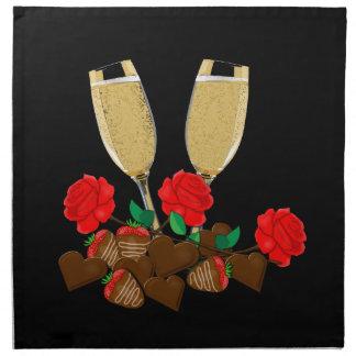 Valentin romantisk design för dag tygservett