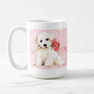 Valentin rosa Bichon Kaffemugg