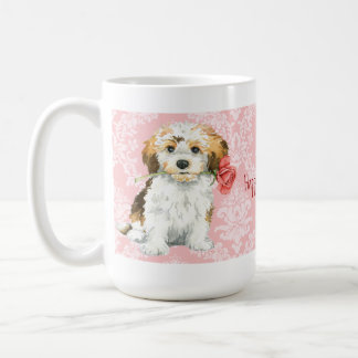 Valentin rosa Havanese Kaffemugg