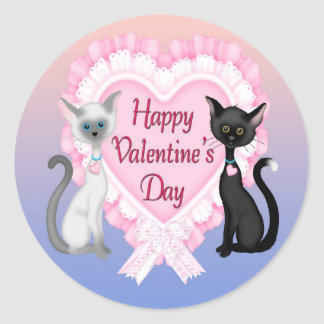 Valentin sälar för kuvert för runda för dagkatter runt klistermärke