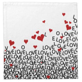 Valentin servett för dagkärlek