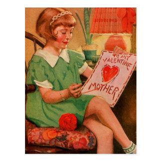 Valentin som ska fostras vykort
