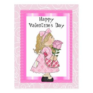 Valentin vykort för dagflicka