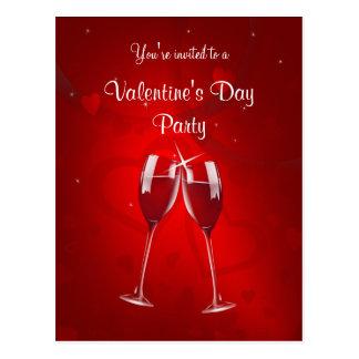 Valentin vykort för inbjudan för dagparty