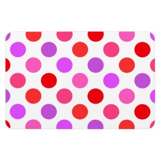 Valentinen färgar polka dots magnet