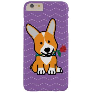 Valentinen för pembroken för Corgihundvalpen steg Barely There iPhone 6 Plus Fodral