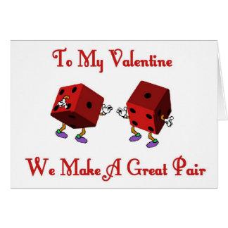 Valentinen gör vi en underbar att para hälsningskort