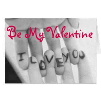 Valentinen/jag älskar dig hälsningskort