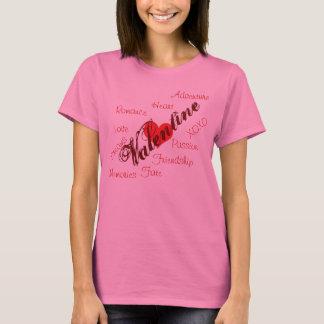 Valentinen uttrycker tshirten tröjor