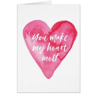 Valentines daykortet, gör du min hjärta att smälta hälsningskort