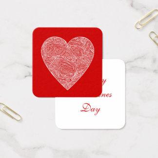 Valentines Fyrkantigt Visitkort