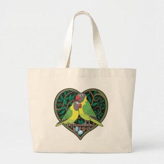 Valentineshjärta: Romantiskt krama för love birds Jumbo Tygkasse