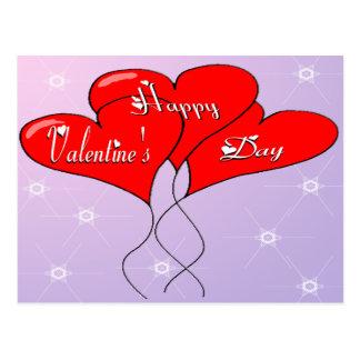 Valentinhjärtaballonger Vykort